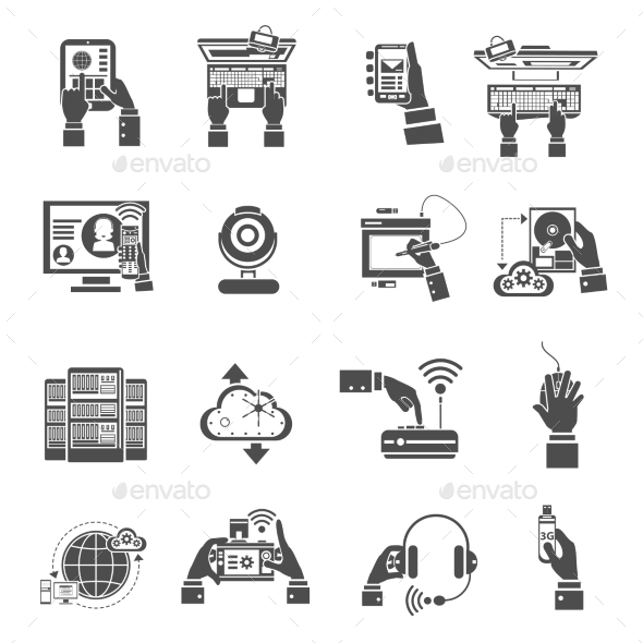 IT Devices Icons - Computers Technology