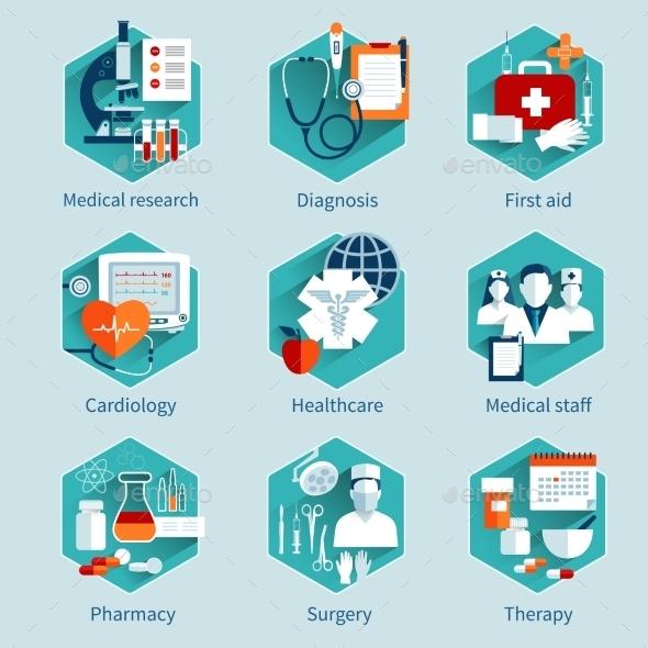 Medical Concepts Set - Health/Medicine Conceptual