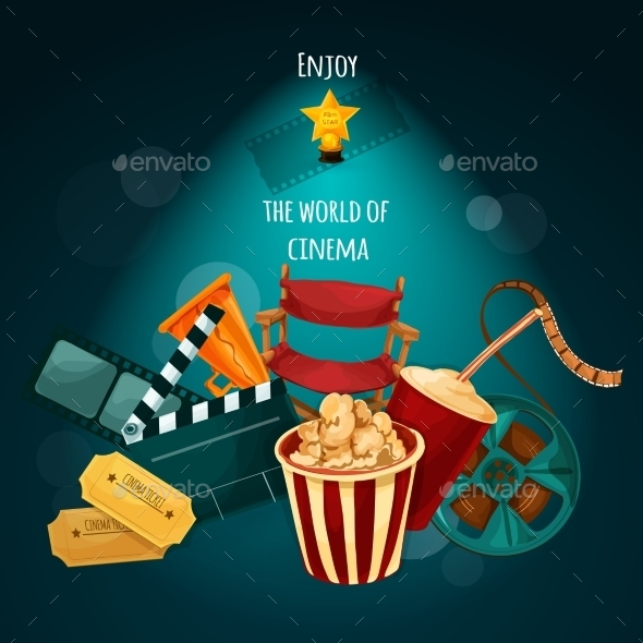 Cinema Background Illustration - Backgrounds Decorative