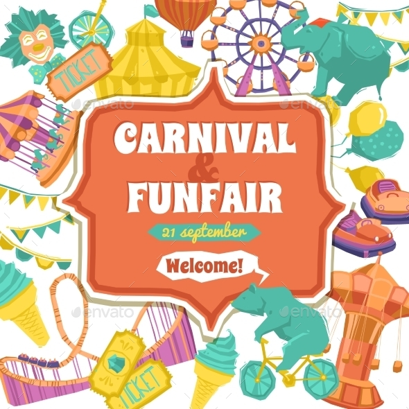 Fun Fair and Carnival Poster - Backgrounds Decorative