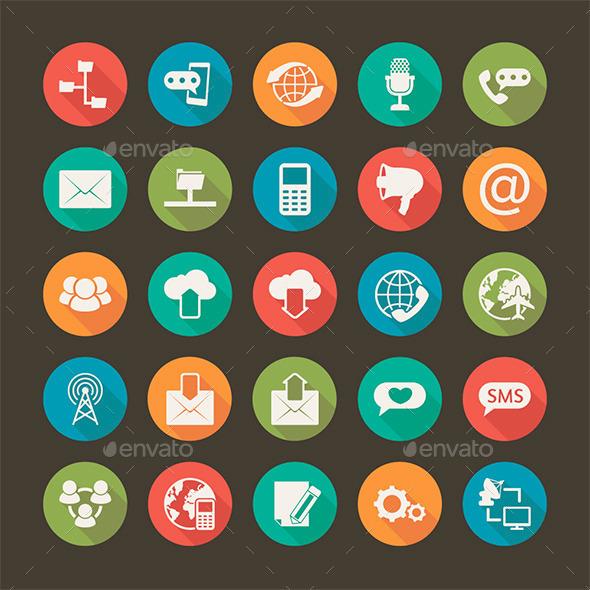 Modern Flat Icons - Decorative Symbols Decorative