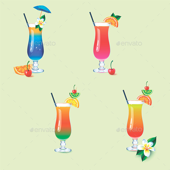 Cocktails - Food Objects