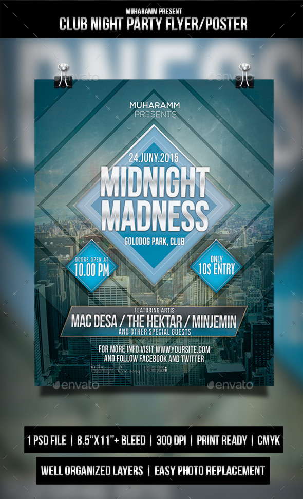 Club Night Party Flyer / Poster - Clubs & Parties Events