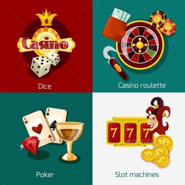 Casino Concept Set - Miscellaneous Vectors