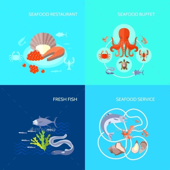 Sea Food Icons - Food Objects