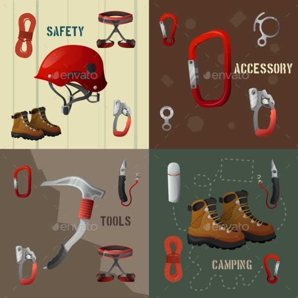 Climbing Icons Banners - Sports/Activity Conceptual