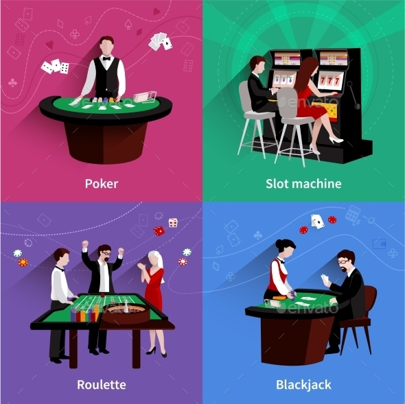 People in Casino Set - Miscellaneous Vectors