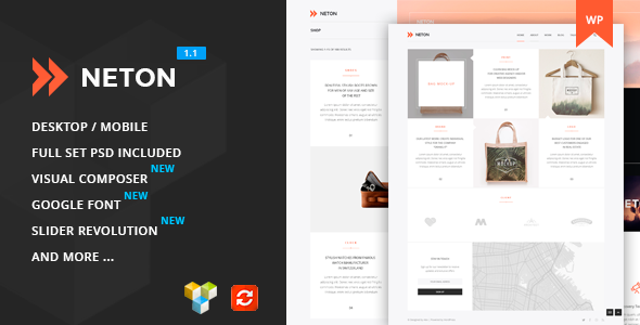 Neton – Minimal Agency Multipurpose WordPress Theme