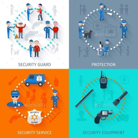 Security Guard 4 Flat Square - Miscellaneous Conceptual