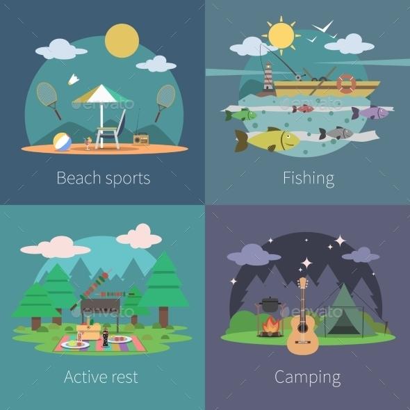 Summer Flat Set - Travel Conceptual