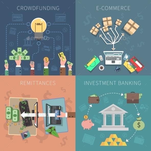 Bank Design Concept Set - Business Conceptual