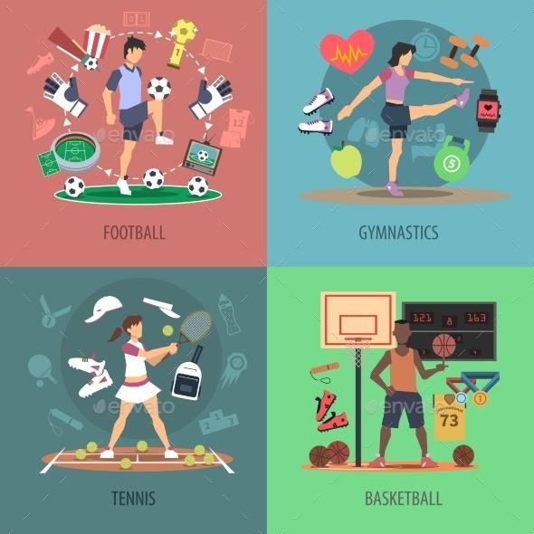 Sport People Design Concept Set - Sports/Activity Conceptual