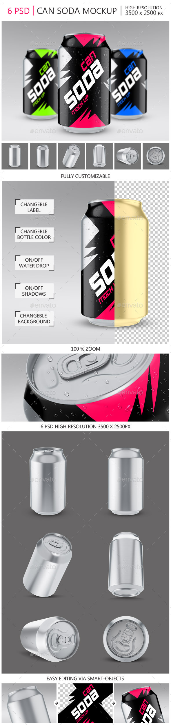 Soda Can Mock-up - Food and Drink Packaging