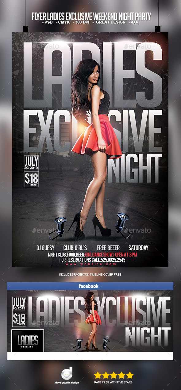 Flyer Ladies Exclusive Weekend Night Party - Clubs & Parties Events