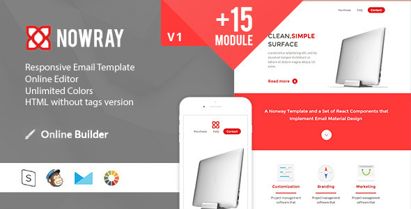 Norway Modern Email Template + Online Access