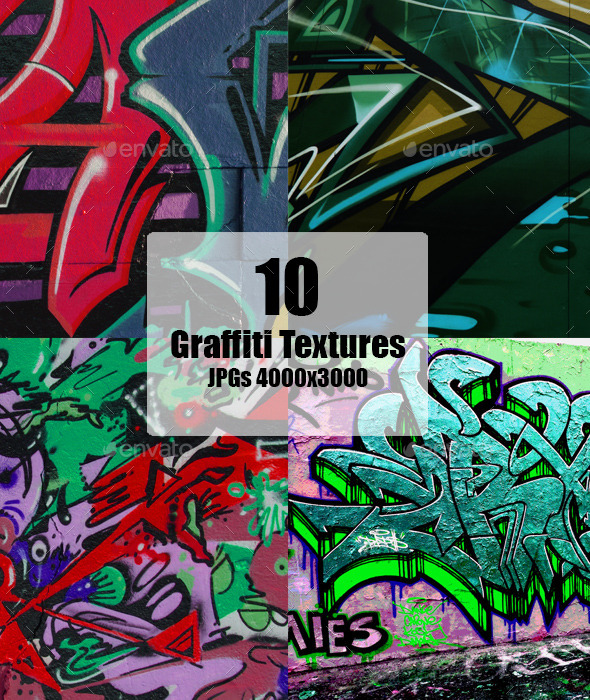Graffiti Wall Texture set - Art Textures
