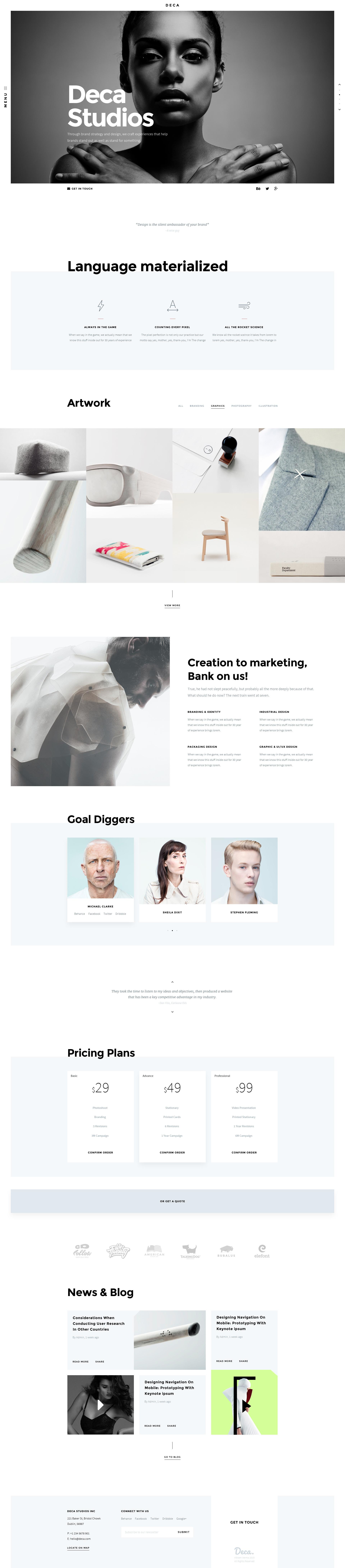 DECA - Creative Multi Concept Portfolio Template by VikramVerma ...