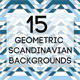 15 Geometric Scandinavian Backgrounds - GraphicRiver Item for Sale