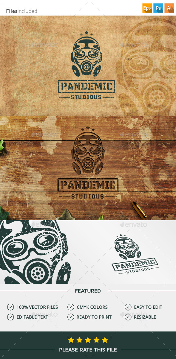 Gas Mask Bio Hazard Logo - Humans Logo Templates