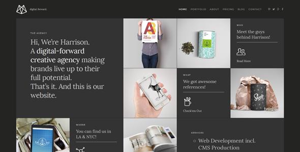 Harrison – Responsive Retina-Ready HTML5 Portfolio