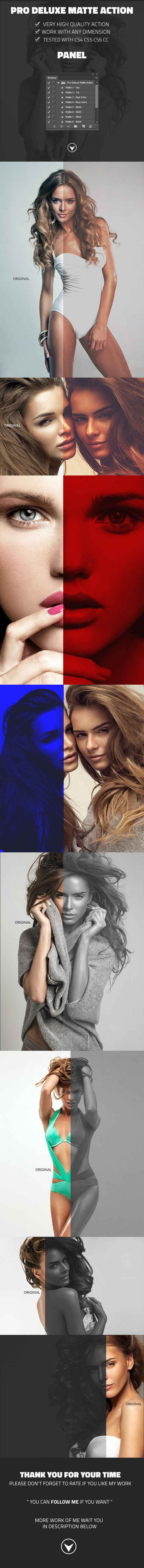 Pro Deluxe Matte Action - Photo Effects Actions