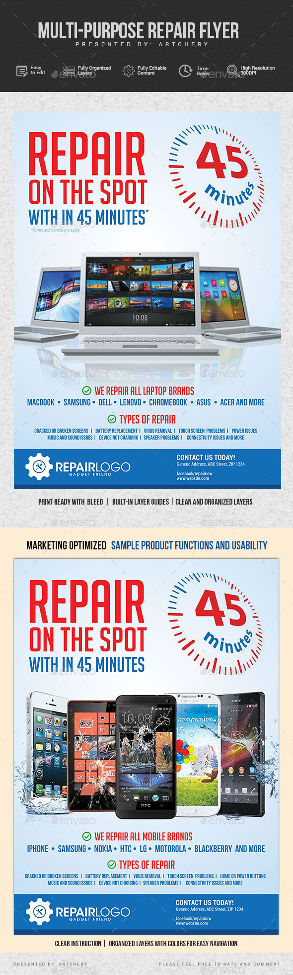 Multipurpose Gadget Repair Flyer - Commerce Flyers