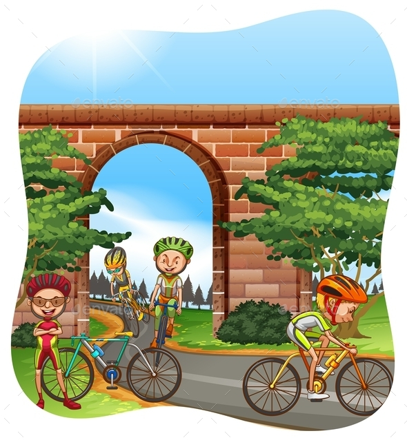 Cycling - People Characters