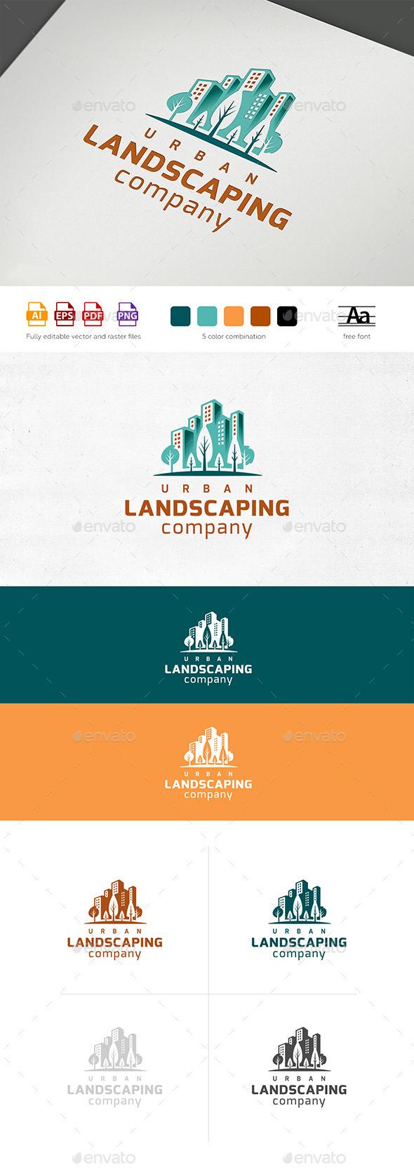 Landscaping Company Logo Template - Buildings Logo Templates