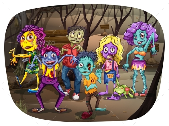 Zombies - People Characters
