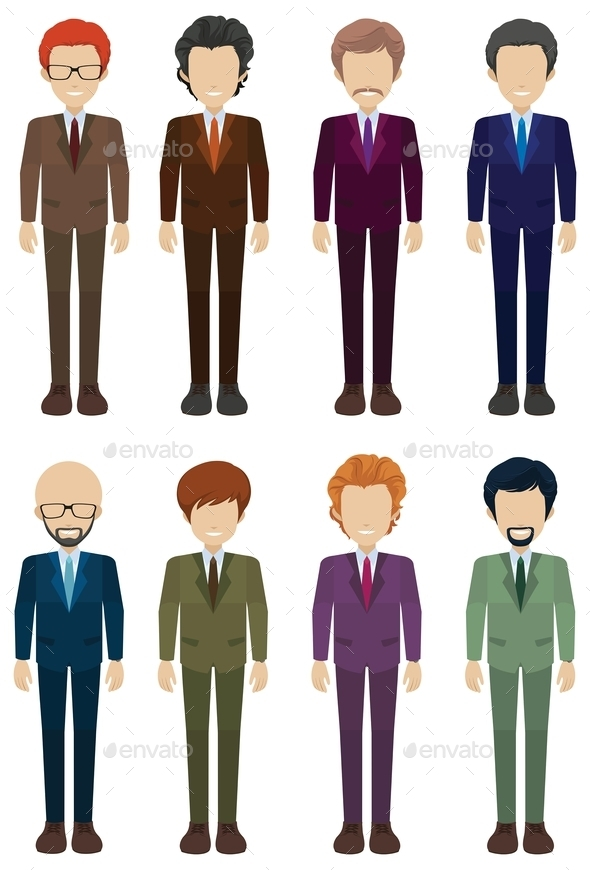 Faceless Businessmen - People Characters