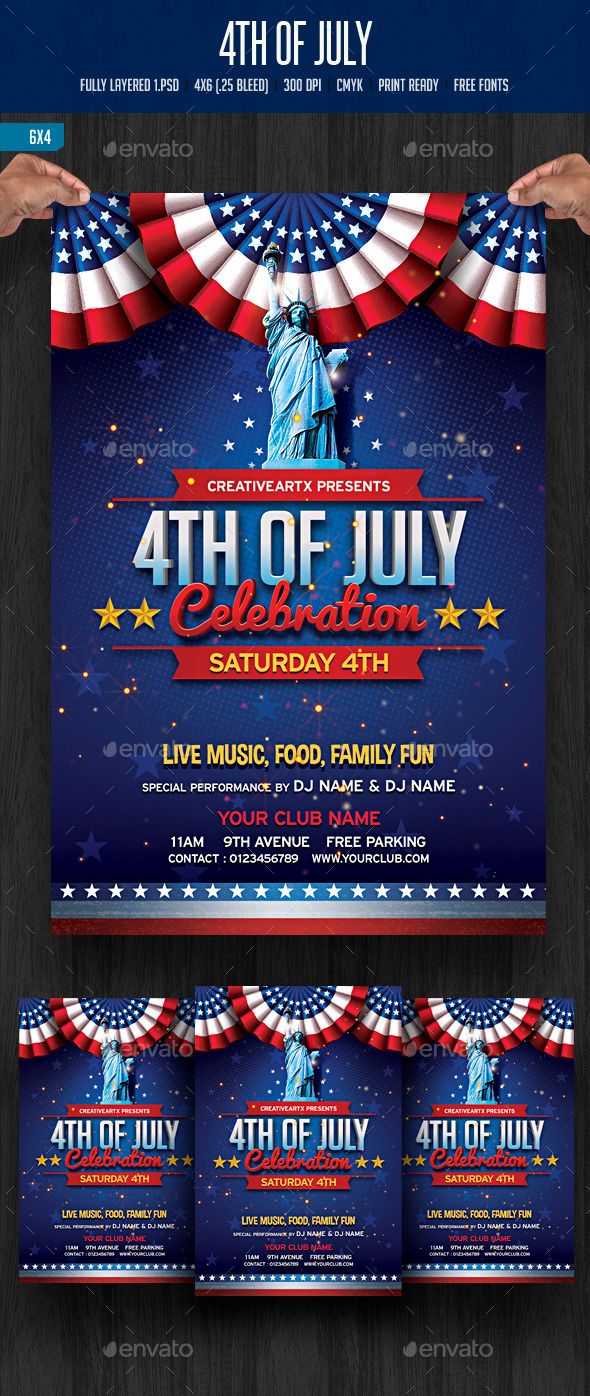 4th of July Celebration - Events Flyers