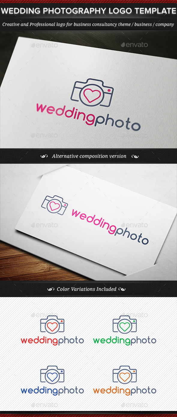 Wedding Photography Business Logo Template - Symbols Logo Templates