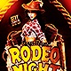 Rodeo Night | Flyer Template PSD - GraphicRiver Item for Sale