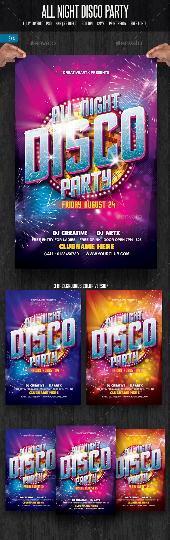 All Night Disco Party - Clubs & Parties Events