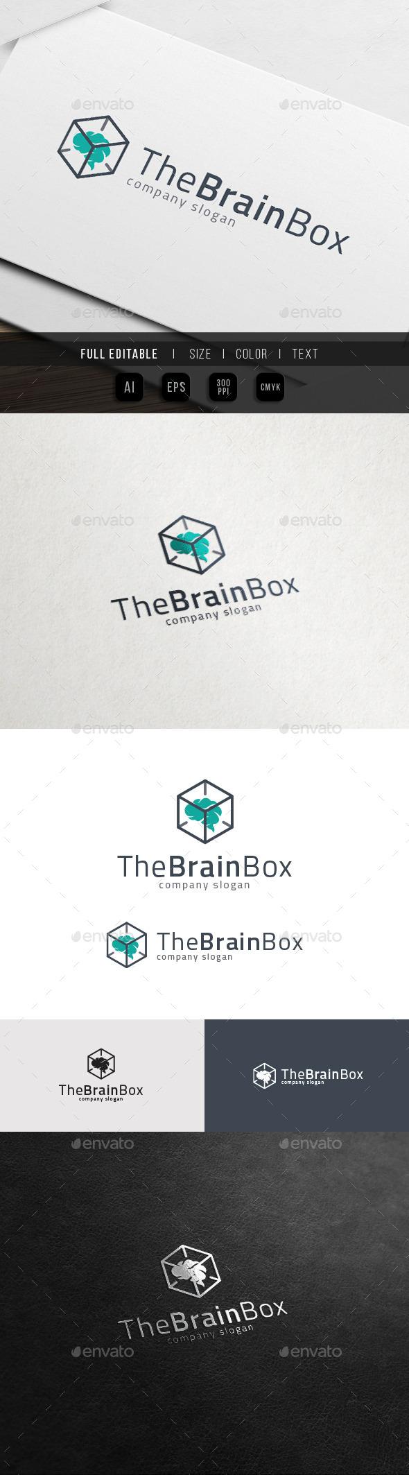 Brain Box - Idea Solution Logo - Abstract Logo Templates