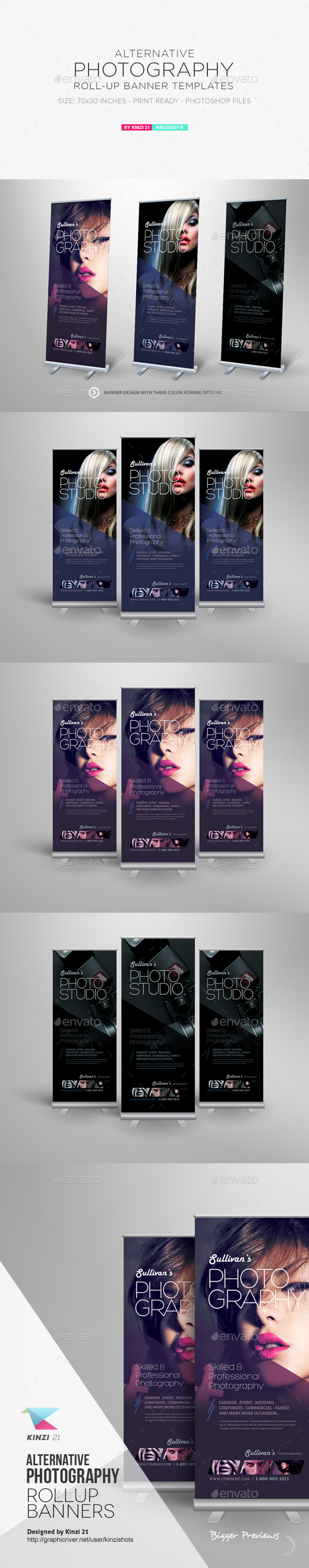 Alternative Photography Roll-up Banners - Corporate Flyers