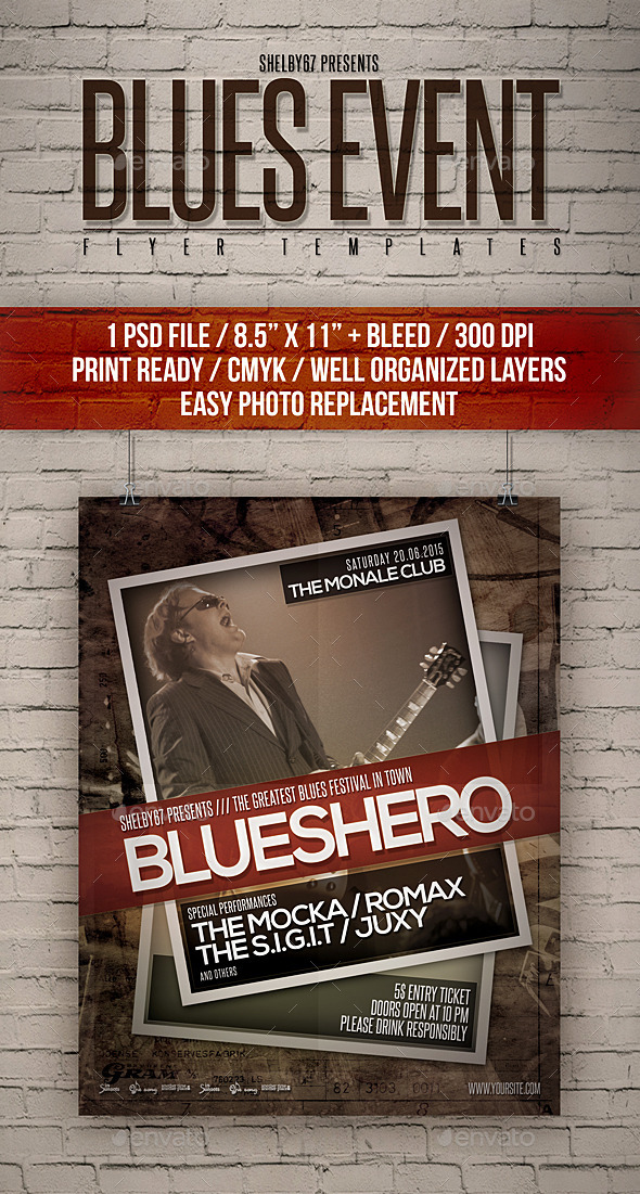 Blues Event Flyer Templates - Events Flyers
