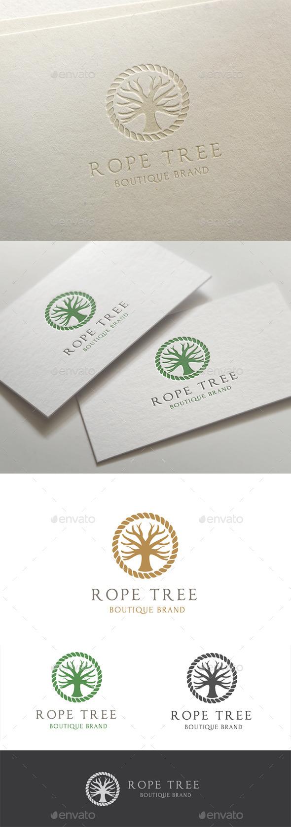 Rope Tree - Objects Logo Templates