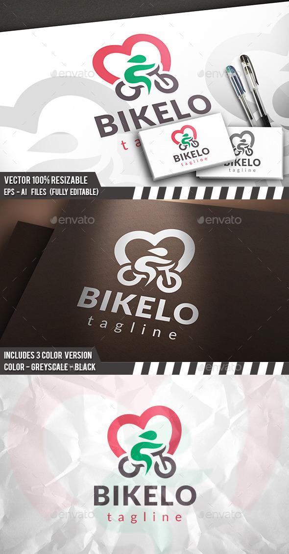 Bike Love Logo - Humans Logo Templates