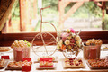 Table setting with flowers and sweets - PhotoDune Item for Sale