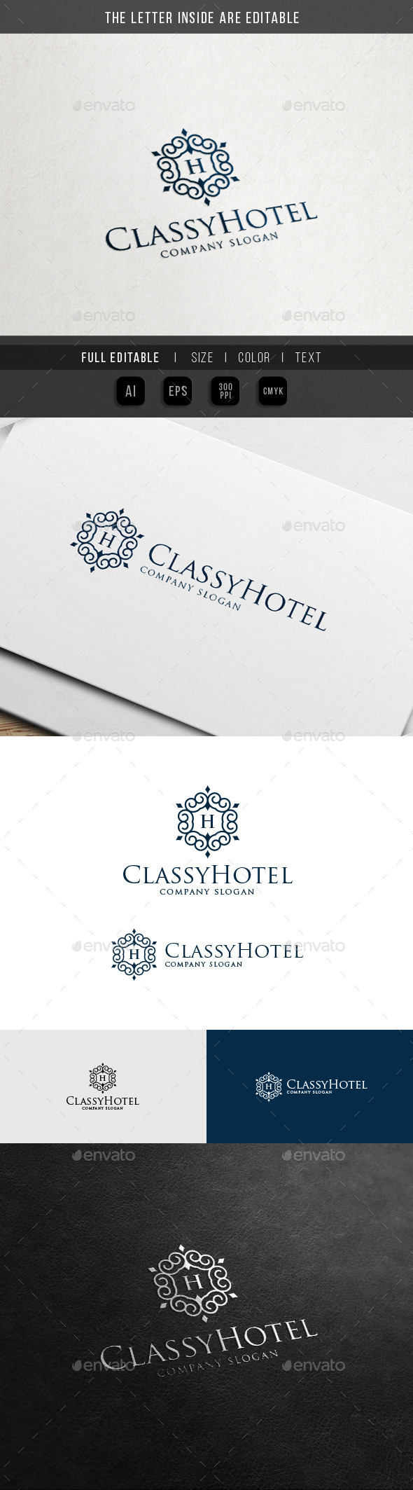 Royal Palace Hotel - Vintage Ornament Logo - Crests Logo Templates