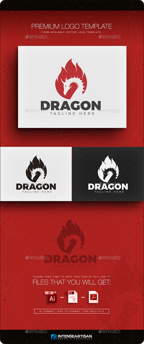 Dragon V.2 Logo - Animals Logo Templates