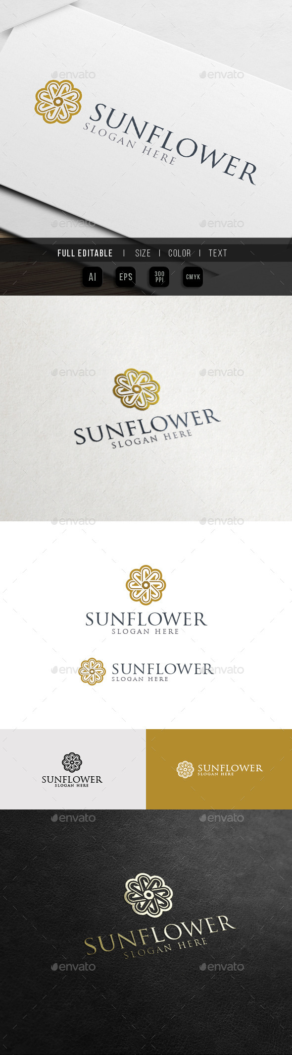 Yoga Flower - Hotel and Resort Logo - Crests Logo Templates