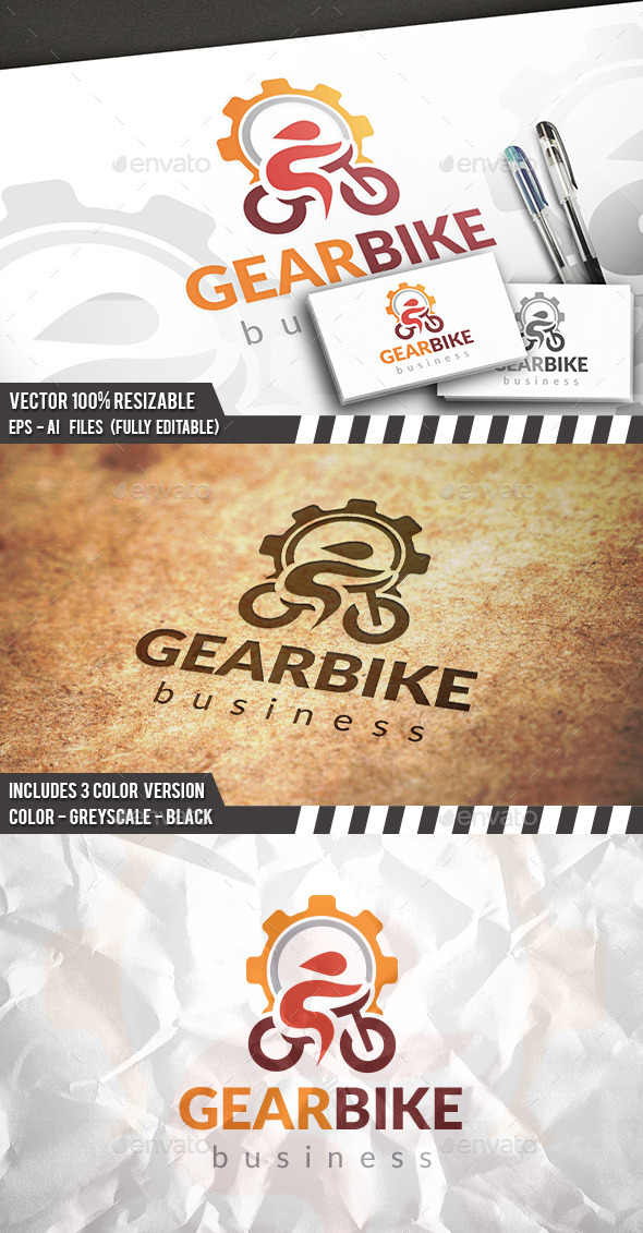 Bike Repair Logo - Symbols Logo Templates