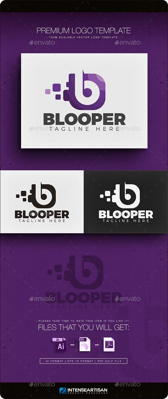Blooper V.2 - Letter B Logo - Letters Logo Templates