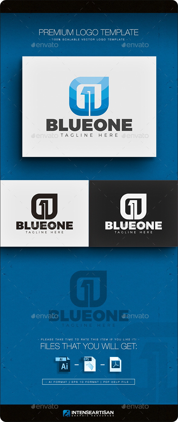 Number One - Logo - Numbers Logo Templates