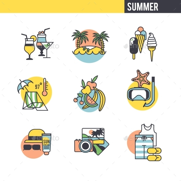The Concept Of Summer Vacation. - Travel Conceptual