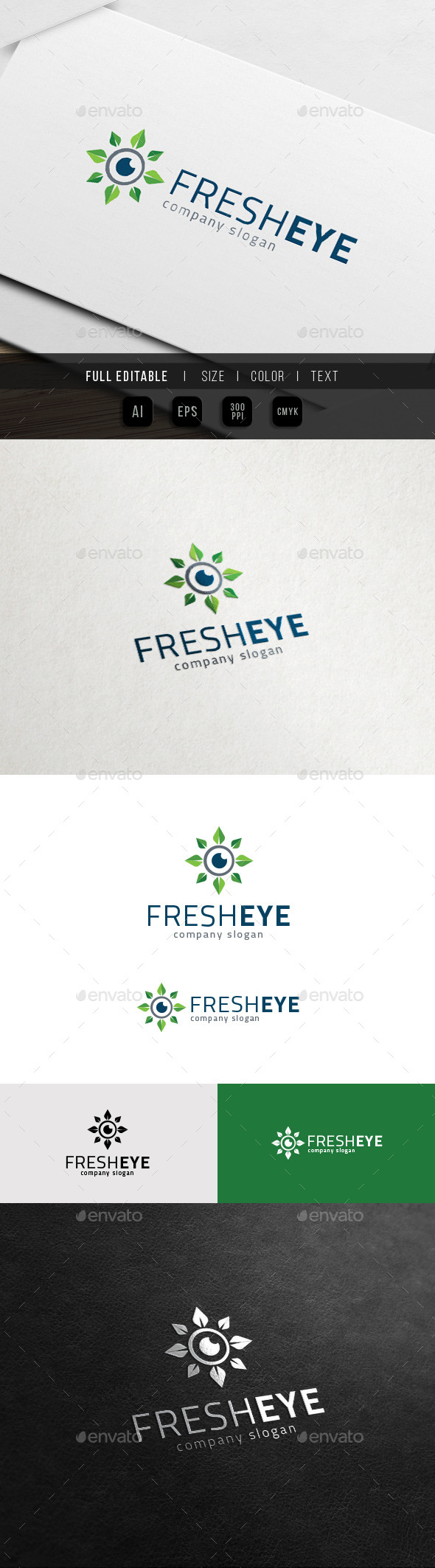 Fresh Eye - Herbal Healthcare Logo - Nature Logo Templates