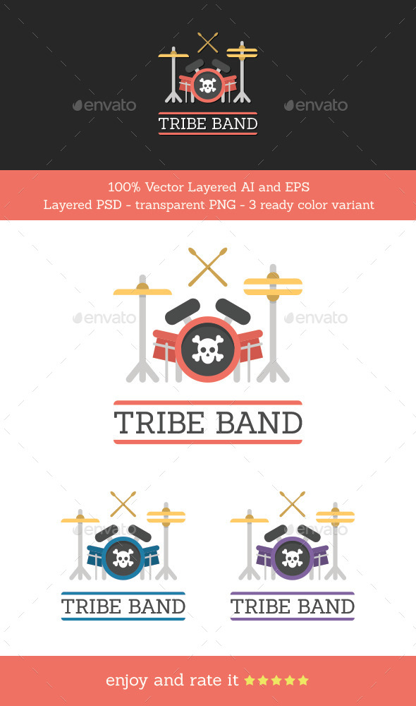Tribe Band - Objects Logo Templates