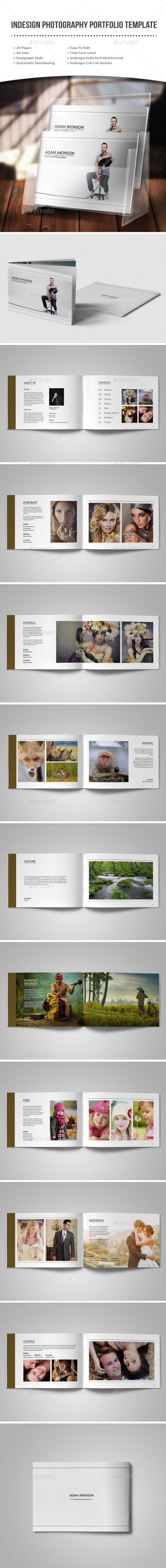 Indesign photography portfolio template - Photo Albums Print Templates